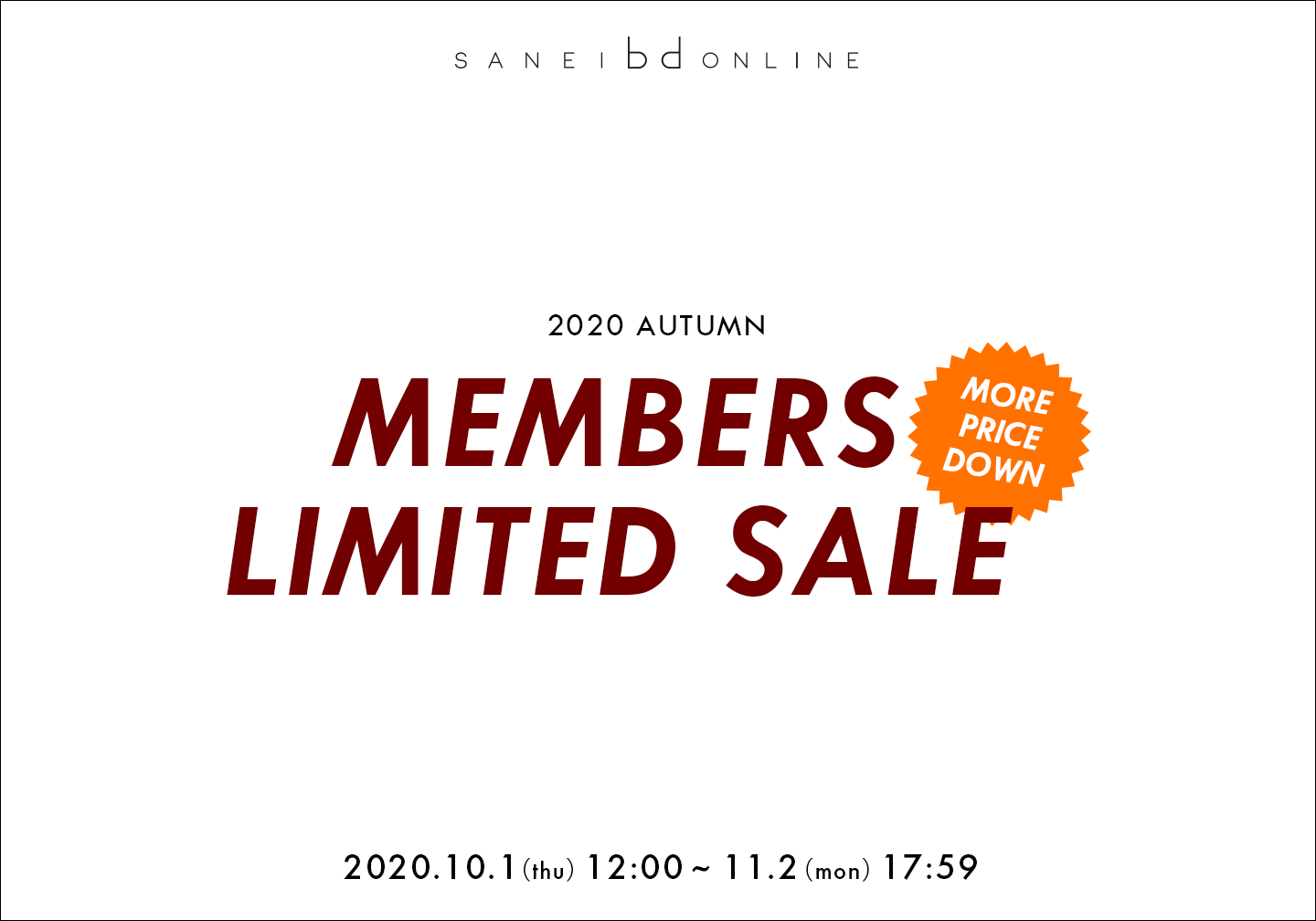 SANEI bd ONLINE MEMBERS LIMITED SALE